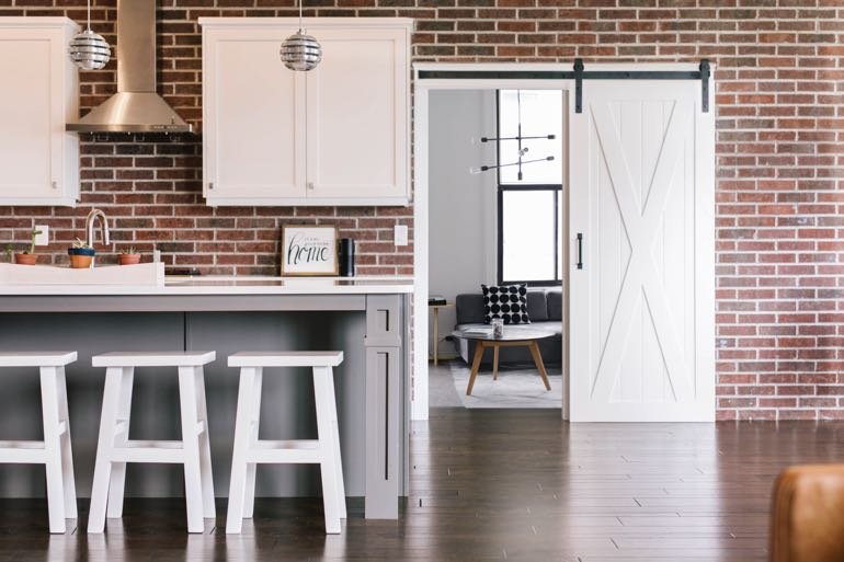Houston modern kitchen barn door