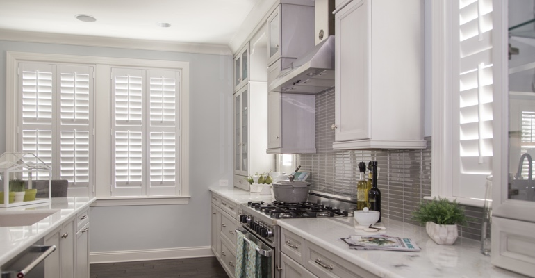 Houston kitchen white shutters