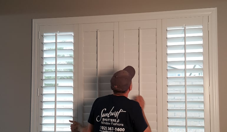 Installation of plantation shutters in Houston