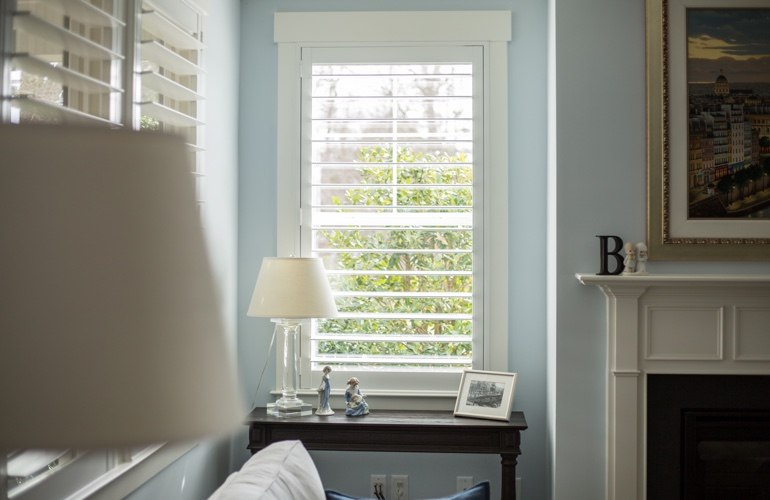 Polywood Shutters in Narrow Window