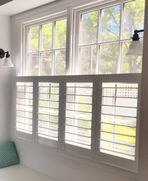 Houston faux wood cafe shutters