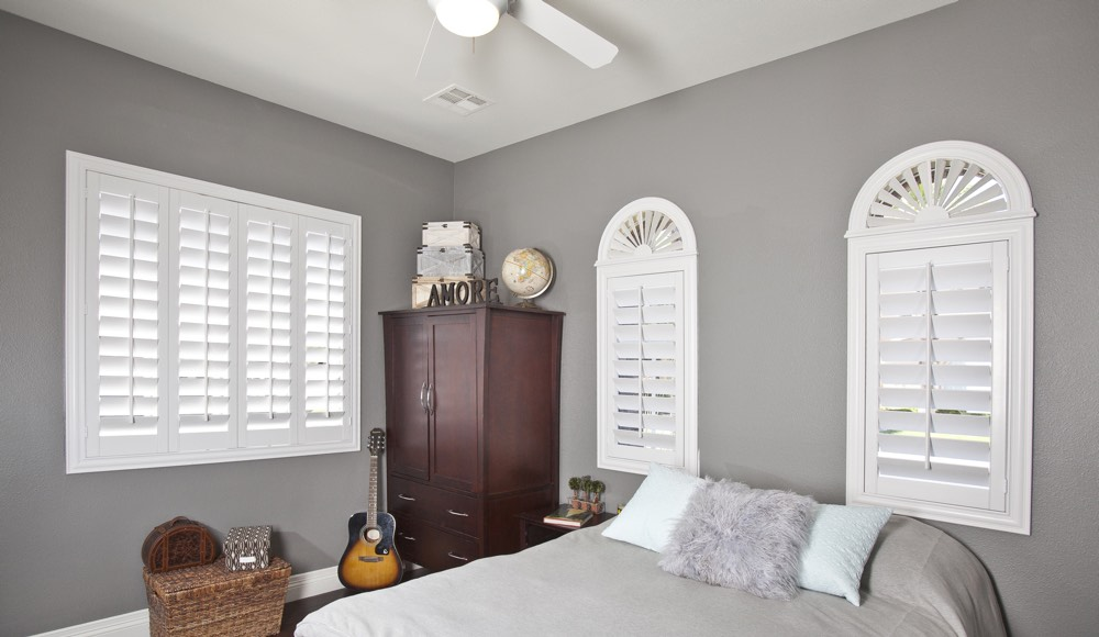 Polywood Shutters In A Houston Bedroom