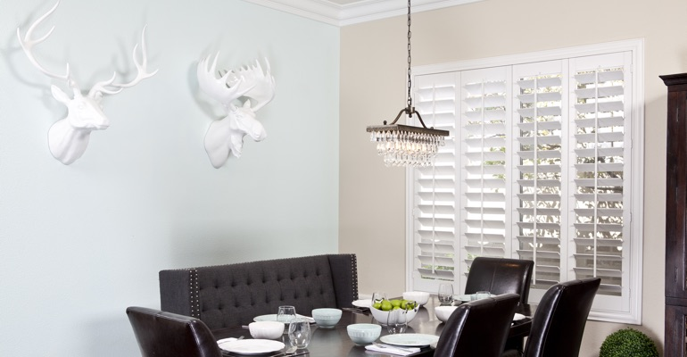 Houston dining room shutters