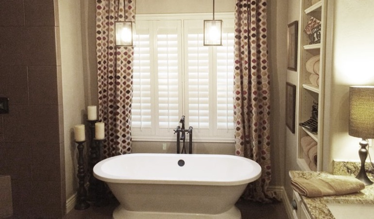 Polywood Shutters in Houston Bathroom