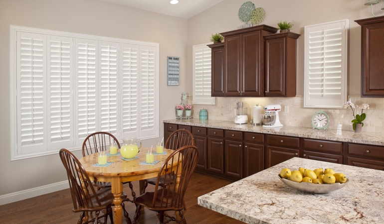 Polywood Shutters in Houston kitchen