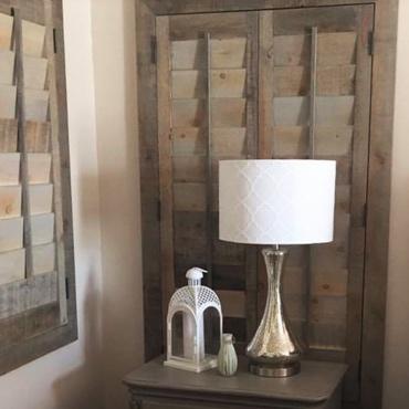 Reclaimed Wood Shutter Houston Bedroom
