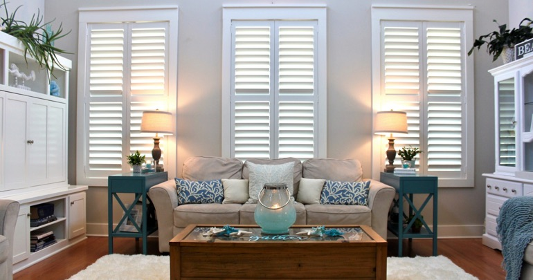 Houston lounge plantation shutters