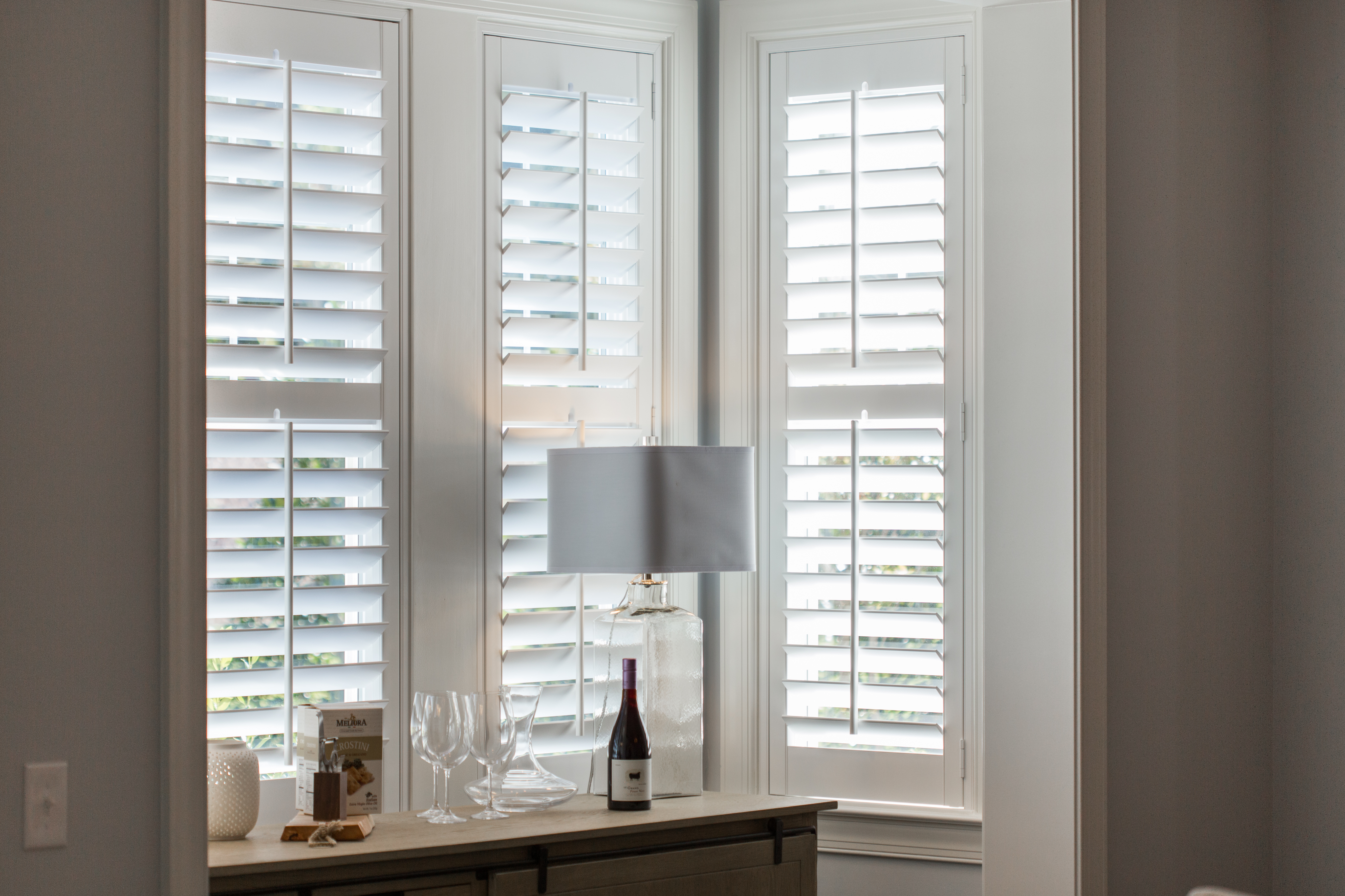Polywood shutters in Houston alcove.