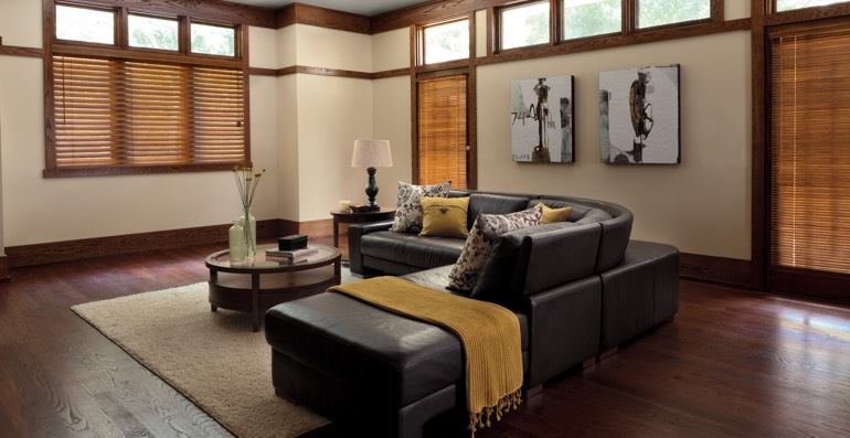 Houston hardwood floor and blinds