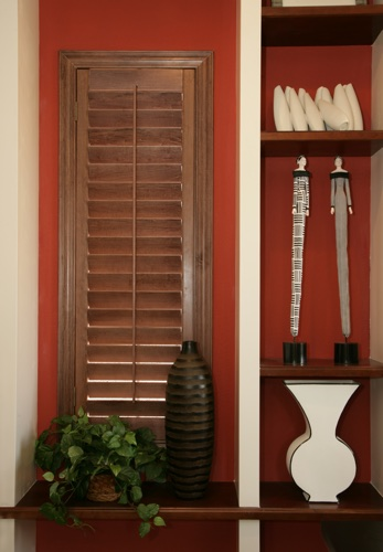 Houston wood shutter shelving