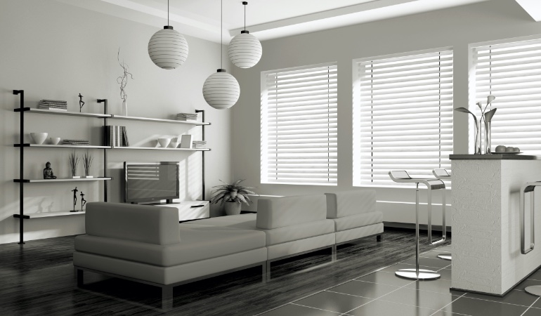 white blinds in Houston