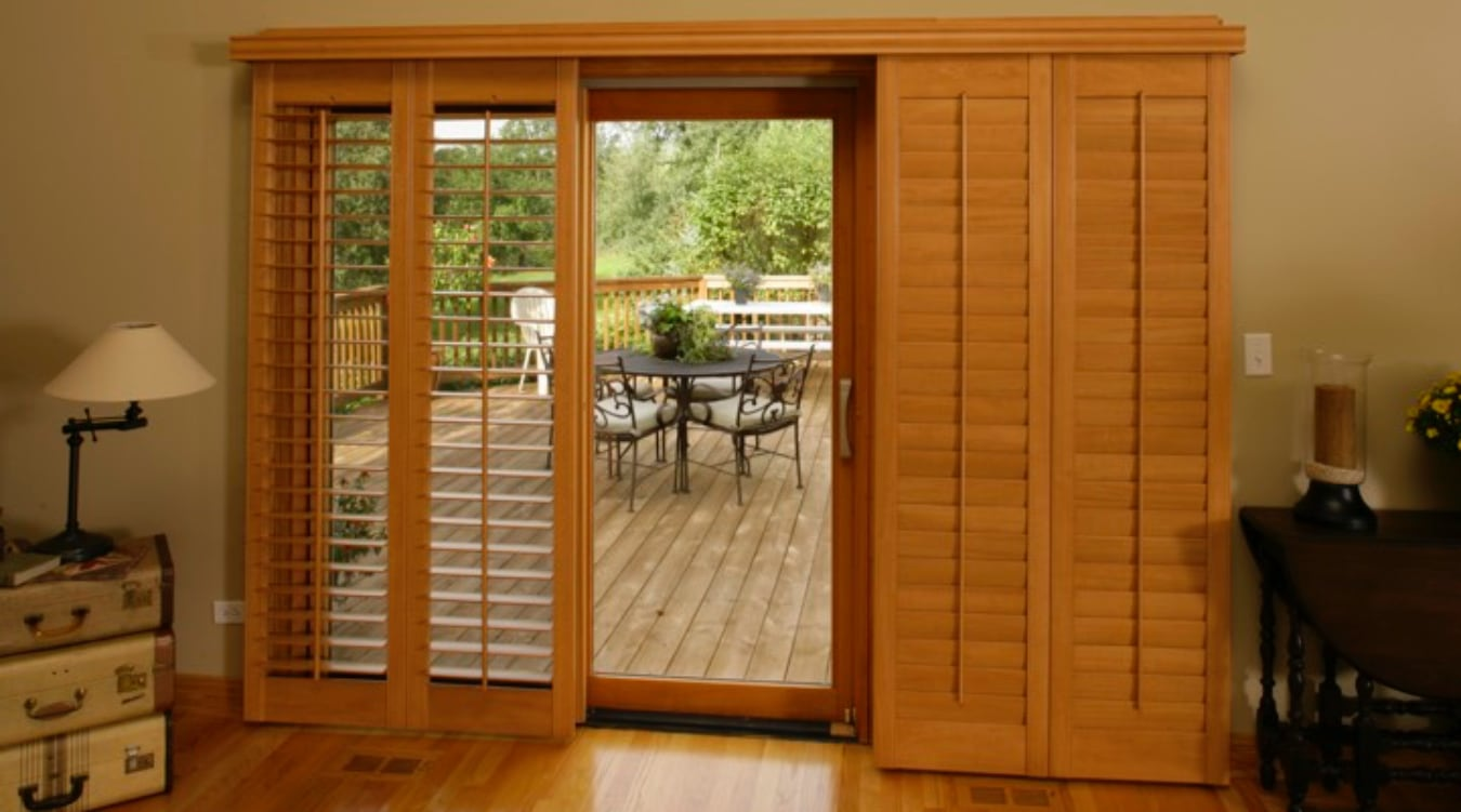 Sliding Glass Door Shutter In Houston