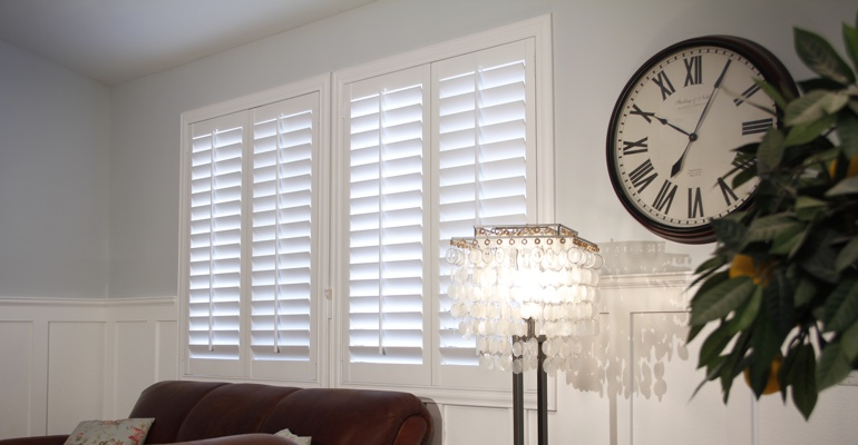 Houston living room indoor shutters