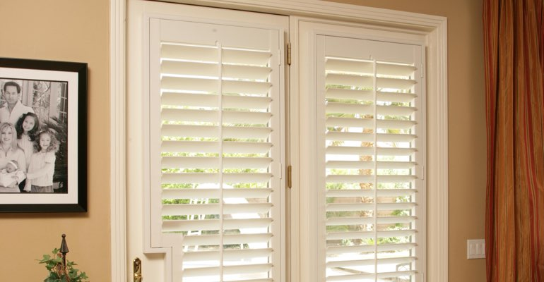 Houston french door plantation shutters