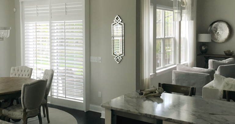 Houston kitchen sliding glass door shutters