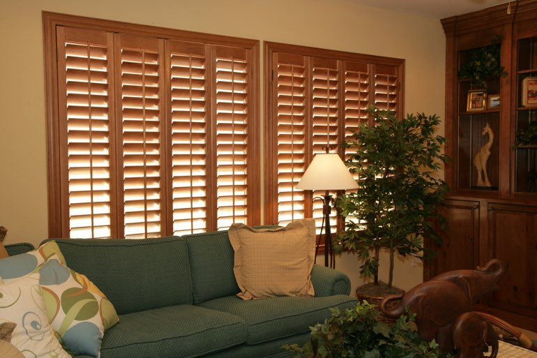 Ovation Shutters In A Houston Living Room.