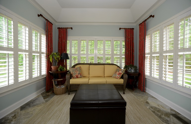 Plantation Shutters In A Houston Sunroom